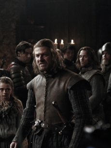 "Maisie Williams as Arya Stark and Sean Bean as Ned Star in ""Game of Thrones,"" 2011"