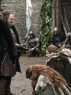 "Mark Addy as Robert Baratheon, Michelle Fairley as Catelyn Stark and Sean Bean as Ned Stark in ""Game of Thrones,"" 2011"