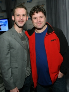 "Dominic Monaghan and Sean Astin stop by the Access Hollywood ""Stuff You Must…"" Lounge by On 3 Productions at the Sofitel Hotel in LA on January 14, 2011"