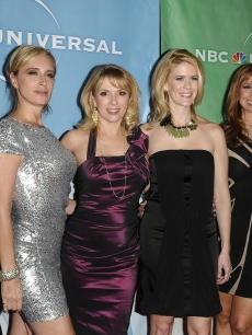 Kelly Killoren Bensimon, Sonja Morgan, Ramona Singer, Alex McCord, Jill Zarin and LuAnn de Lesseps attend the NBC Universal press tour all-star party at The Langham Huntington Hotel and Spa, Pasadena, January 13, 2011