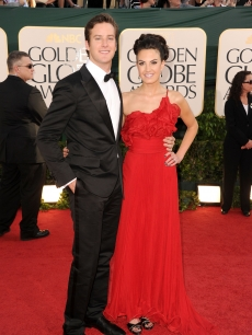 Armie Hammer and Elizabeth Chambers arrive at the 68th Annual Golden Globe Awards held at The Beverly Hilton hotel in Beverly Hills on January 16, 2011 