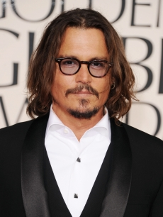 Johnny Depp arrives at the 68th Annual Golden Globe Awards held at The Beverly Hilton hotel in Beverly Hills on January 16, 2011