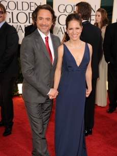 Robert Downey Jr. and producer Susan Downey arrive at the 68th Annual Golden Globe Awards held at The Beverly Hilton hotel, Beverly Hills, January 16, 2011