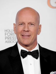 Bruce Willis poses in the press room at the 68th Annual Golden Globe Awards held at The Beverly Hilton hotel, Beverly Hills, January 16, 2011