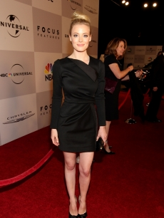 """Community's"" Gillian Jacobs arrives at NBCUniversal/Focus Features Golden Globes Viewing and After Party sponsored by Chrysler held at The Beverly Hilton hotel on January 16, 2011"