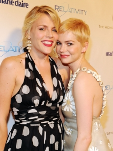 Busy Philipps and Michelle Williams arrive at Relativity Media and The Weinstein Company's 2011 Golden Globe Awards After Party presented by Marie Claire held at The Beverly Hilton hotel on January 16, 2011