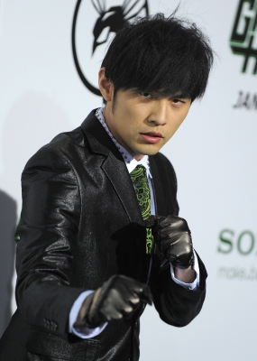 "Jay Chou arrives at ""The Green Hornet"" premiere at Graumans Chinese Theatre in Hollywood, Calif. on January 10, 2011"