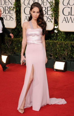 Megan Fox arrives at the 68th Annual Golden Globe Awards held at The Beverly Hilton hotel in Beverly Hills on January 16, 2011