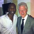 Chad Ochocinco and Bill Clinton in Miami, Jan. 20, 2011