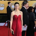 """The Good Wife's"" Julianna Margulies arrives at the 17th Annual Screen Actors Guild Awards held at The Shrine Auditorium in LA on January 30, 2011"