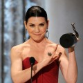 "Julianna Margulies, winner of Outstanding Performance by a Female Actor in a Drama Series award for ""The Good Wife,"" speaks onstage during the 17th Annual Screen Actors Guild Awards held at The Shrine Auditorium, LA, January 30, 2011"