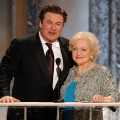 Alec Baldwin and Betty White speak onstage during the 17th Annual Screen Actors Guild Awards held at The Shrine Auditorium, Los Angeles, January 30, 2011