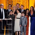 The cast of &#8220;Modern Family&#8221; accept their award for Outstanding Performance by an Ensemble in a Comedy Series award, during the 17th Annual Screen Actors Guild Awards held at The Shrine Auditorium, Los Angeles, January 30, 2011