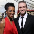 Access Hollywood's Shaun Robinson and Justin Timberlake on the red carpet at The Screen Actors Guild Awards, Los Angeles, Jan. 30, 2011