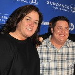 "Rosie O'Donnell and Chaz Bono attend the ""Becoming Chaz"" premiere at the Prospect Square Theatre during the 2011 Sundance Film Festival in Park City, Utah on January 23, 2011"