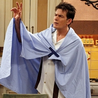 "Charlie Sheen on ""Two and a Half Men,"" Nov. 15, 2010, CBS"
