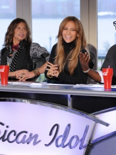 "Steven Tyler, Jennifer Lopez and Randy Jackson judge the ""American Idol"" Season 10 contestants in New Jersey, which aired on Jan. 19, 2011"