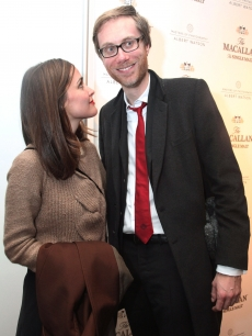 Rose Byrne and Stephan Merchant attend the opening of The Macallan photo exhibit at Milk Studios, NYC, January 20, 2011