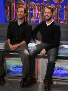 Luke Perry and Jason Priestley visit the Access Hollywood Live set on January 21, 2011 