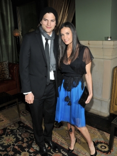 Ashton Kutcher and Demi Moore attend the after party for the Cinema Society&#8217;s screening of &#8220;No Strings Attached&#8221; at the Soho Grand Hotel in NYC, on January 20, 2011