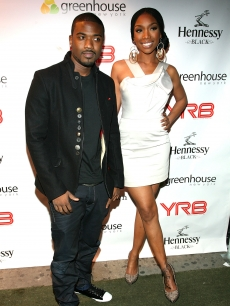 Brother and sister Ray J and Brandy attend Ray J&#8217;s YRB Magazine Cover &amp; 30th birthday celebration at Greenhouse in NYC, on January 20, 2011   