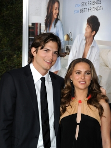 Ashton Kutcher and Natalie Portman arrive at Paramount Pictures&#8217; &#8220;No Strings Attached&#8221; premiere at Regency Village Theater in LA on January 11, 2011 