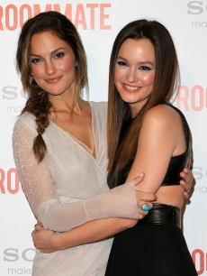 "Minka Kelly and Leighton Meester arrive at the ""The Roommate"" premiere in West Hollywood on January 23, 2011"