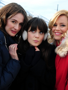 Emily Mortimer,Zooey Deschanel and Elizabeth Banks are spotted at the Sundance Film Festival in Park City, Utah on January 23, 2011