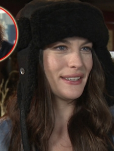 Liv Tyler chats with Access Hollywood (Inset: Steven Tyler on 'American Idol')