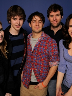 Emma Roberts, Freddie Highmore, Michael Angarano, director Gavin Wiesen and Elizabeth Reaser pose for a portrait during the 2011 Sundance Film Festival at The Samsung Galaxy Tab Lift, Park City, Utah, January 24, 2011