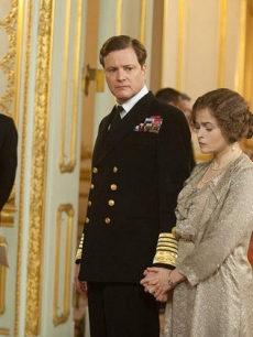 "Geoffrey Rush, Colin Firth and Helena Bonham Carter in ""The King's Speech,"" 2010"