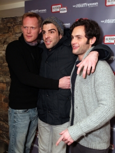 Paul Bettany, Zachary Quinto and Penn Badgley attend the Variety Studio at the Sundance Film Festival, Park City, Utah, Jan. 24, 2011