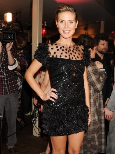 Heidi Klum attends InStyle's Best Of British Talent Party in association with Lancome at Shoreditch House, London, January 25, 2011