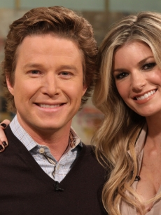 Billy Bush and Marisa Miller hang out on Access Hollywood Live on January 27, 2011