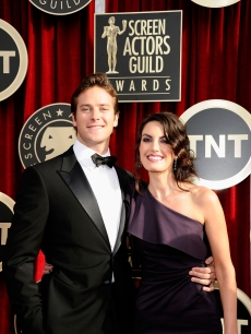 &#8220;The Social Network&#8217;s&#8221; Armie Hammer and wife Elizabeth Chambers arrive at the 17th Annual Screen Actors Guild Awards held at The Shrine Auditorium, Los Angeles, January 30, 2011