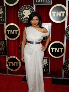 """The Office's"" Mindy Kaling arrives at the 17th Annual Screen Actors Guild Awards held at The Shrine Auditorium in LA on January 30, 2011"