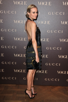 Diane Kruger attends the Vogue Paris Dinner hosted by Carine Roitfeld in honour of Frida Giannini as part of Paris Haute Couture Fashion Week at Hotel de la Rochefoucauld Doudeauville, Paris, January 25, 2011