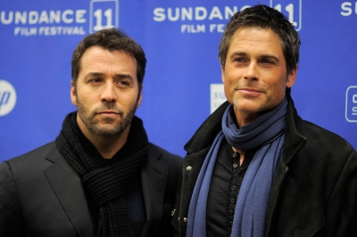 "Jeremy Piven and Rob Lowe pose at the premiere of their film, ""I Melt With You,"" during the 2011 Sundance Film Festival in Park City, Utah on January 26, 2011"