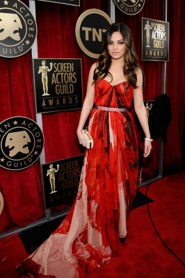 """Black Swan"" Mila Kunis arrives at the 17th Annual Screen Actors Guild Awards held at The Shrine Auditorium in LA on January 30, 2011"