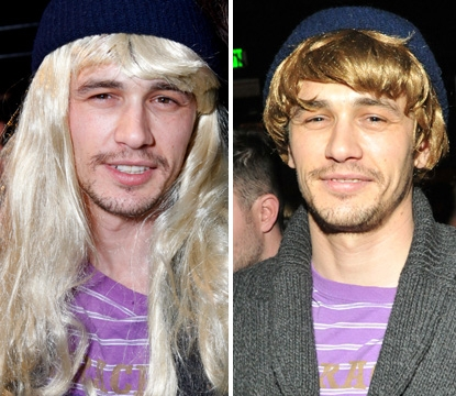 James Franco wigs out in Park City, Utah, on January 21, 2011