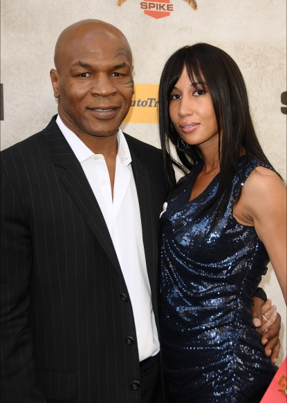 "Mike Tyson and Lakiha Spicer attend Spike TV's 4th annual ""Guys Choice Awards"" at Sony Studios in Los Angeles on June 5, 2010"
