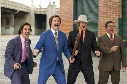 Will Ferrell and Steve Carell in &#8220;Anchorman: The Legend of Ron Burgandy&#8221;