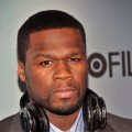 "50 Cent attends the HBO Films & The Cinema Society screening of ""Sunset Limited"" at Time Warner Screening Room, NYC, February 1, 2011"