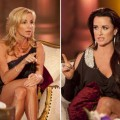 &#8220;Real Housewives&#8221; Camille Grammer and Kyle Richards during Bravo&#8217;s reunion special on February 1, 2011 
