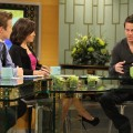 Channing Tatum chats with Billy Bush and Kit Hoover on Access Hollywood Live on February 3, 2011