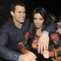 Kris Humphries and Kim Kardashian watch Prince perform during his &#8220;Welcome 2 America&#8221; tour at Madison Square Garden in New York City on February 7, 2011