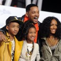 "Will, Jada, Jade and Willow Smith arrive at the premiere of Paramount Pictures' ""Justin Bieber: Never Say Never"" held at Nokia Theater L.A. Live, Los Angeles, February 8, 2011"