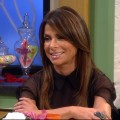 Paula Abdul on the set of Access Hollywood Live on February 9, 2011