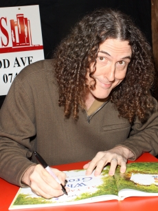 "Weird Al Yankovic promotes his new book, ""When I Grow Up,"" at Bookends Bookstore in Ridgewood, New Jersey, on February 2, 2011"