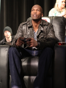 Chad Ochocinco attends the EA Sports Madden Bowl XLV at The Glass Cactus in Grapevine, Texas, on February 3, 2011